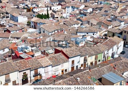 Panoramic view of Xativa, Valencia, Spain  - stock photo