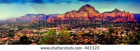 Panoramic View Sedona - stock photo