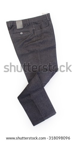 pant's or men's trousers on a background - stock photo