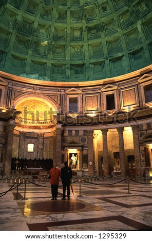 Pantheon interior 1 - stock photo