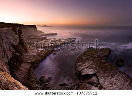 Panther Beach, Big Sur, California, at dawn - stock photo