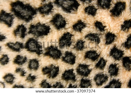 Panther fur pattern in close up