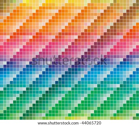 Pantone CMYK colors palette for Abstract Background - stock photo