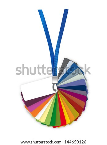 Pantone color palette guide. illustration design over white - stock photo