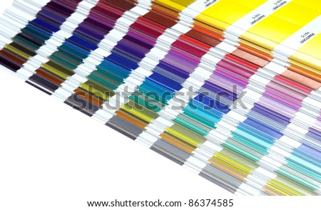 Pantone sample colors catalogue background - stock photo