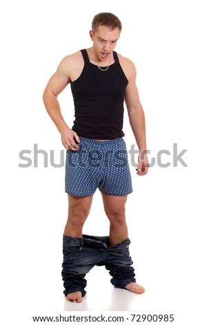 Pants Down - stock photo