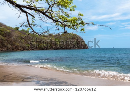 papagayo gulf coast line of Costa Rica - stock photo