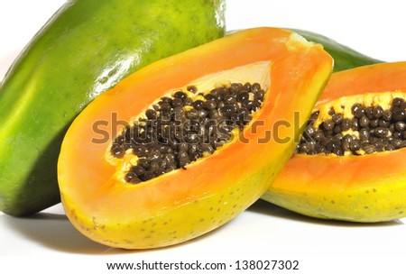 Papaya 2. - stock photo