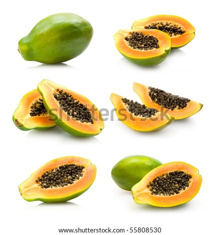 papaya collection - stock photo