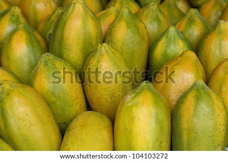 papaya for health for background