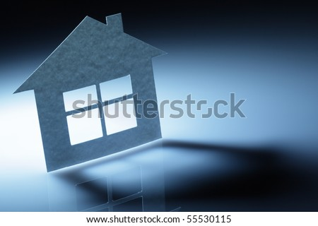 Paper abstract house - stock photo
