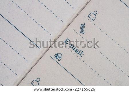Paper Address Book  - stock photo