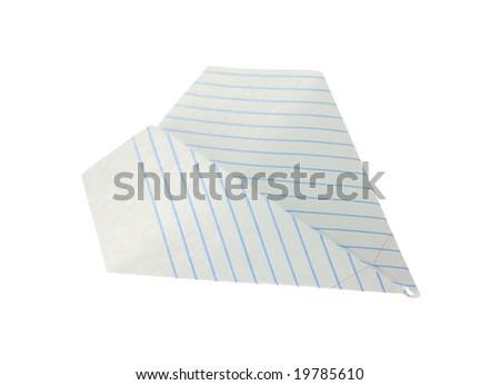 Paper airplane. - stock photo