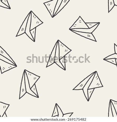 how to draw a paper airplane doodle