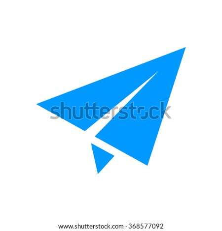 Paper airplane icon. Flat