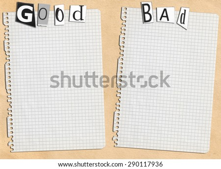 paper and inscription - stock photo