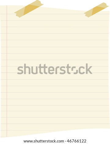 Paper and Tapes - stock photo
