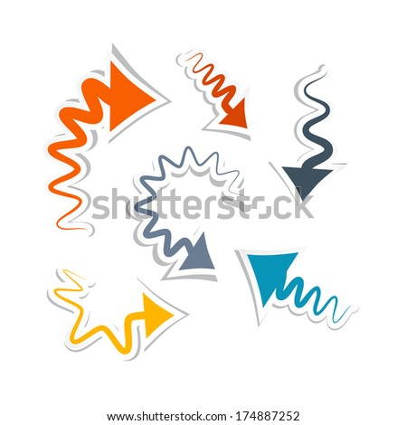 Paper Arrows Isolated on White Background