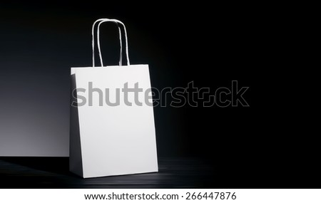 Paper bag for natural recycle concept packshot - stock photo