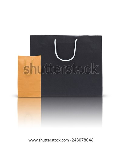 paper bag on a white background isolated  - stock photo