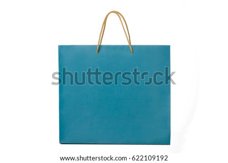 Paper bag on white background.