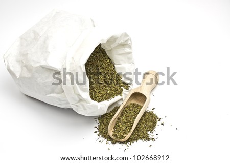 Paper bag with savory