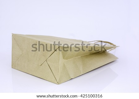 Paper bags are made from recycled paper - stock photo