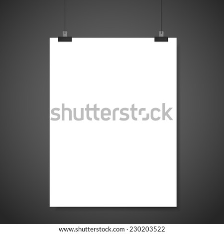 Paper card on gray background stock photo 126857435 for Cardboard brochure holder template