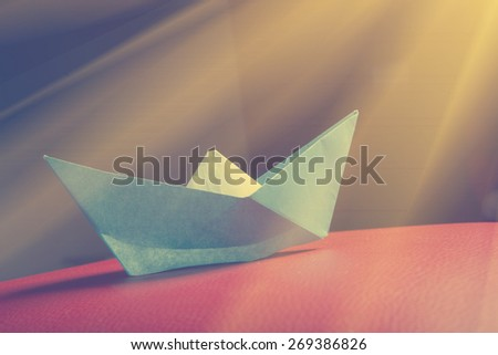 Paper boat - instagram style