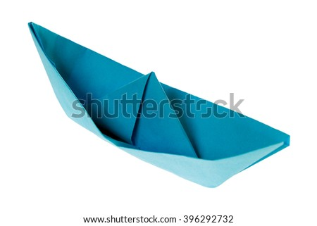 Paper Boat isolated over a white background / Paper Boat