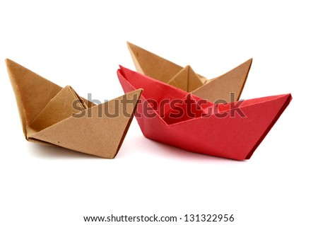 Paper boats on playing game