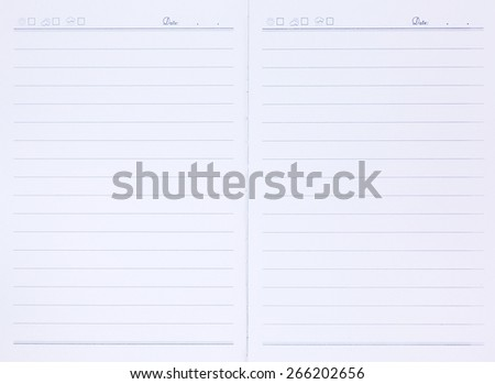 paper both page notebook - stock photo
