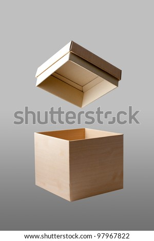 paper box image - stock photo
