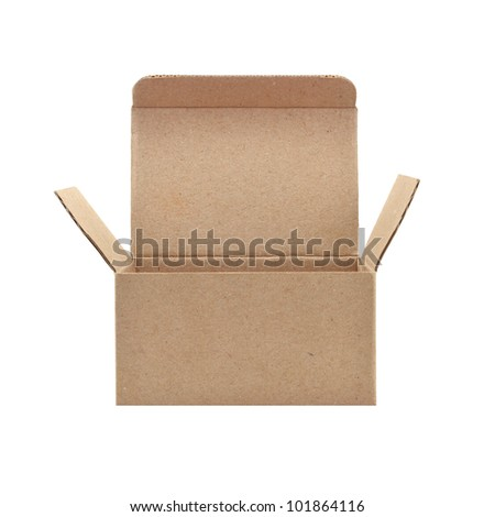 paper box on white background - stock photo