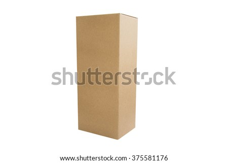 paper box package on white background - stock photo