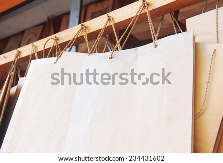 Paper brown shopping bags - stock photo
