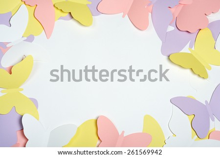 paper butterflies - stock photo