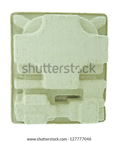 Paper carton isolated on white background with clipping path