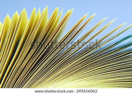 paper catalog macro texture - stock photo