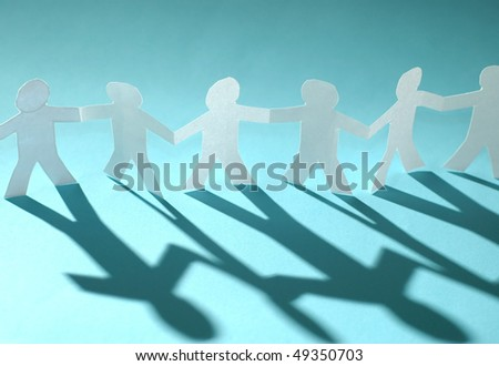 Paper chain - stock photo