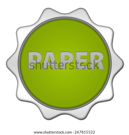 Paper circular icon on white background
