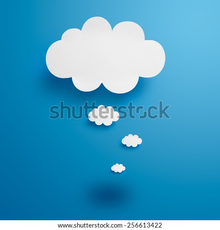 Paper Clouds - stock photo