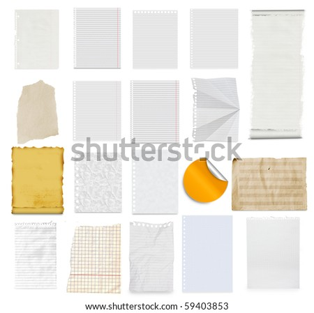 paper collection - stock photo