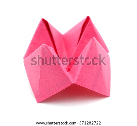 Paper Cootie Catcher fortune telling game