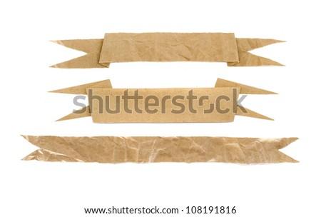 paper craft stick - stock photo