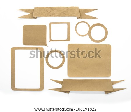 paper craft sticks - stock photo