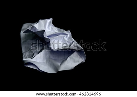 Paper creasy on a black background