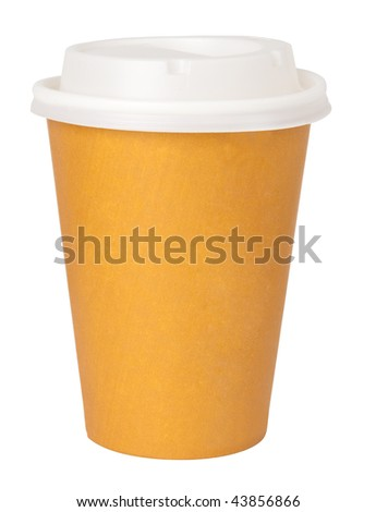 Paper cup - stock photo