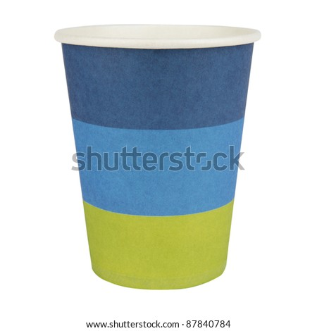 Paper Cup Cutout - stock photo
