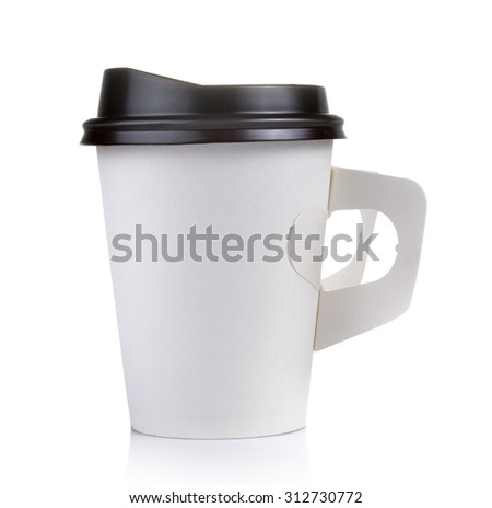 paper cup for coffee isolated on white background